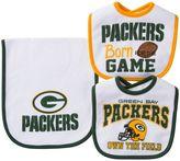 Baby Green Bay Packers 3-Piece Bib & Burp Cloth Set