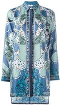 Versace baroque print tunic - women - Silk - 40