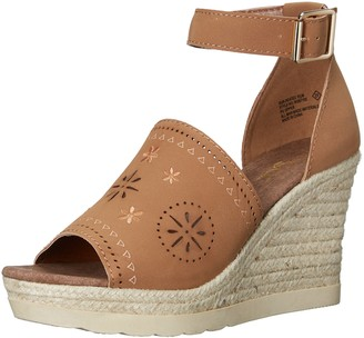 Sugar Women's SGR-Heated Espadrille Wedge Sandal