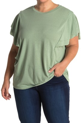 MelloDay Tiered Sleeve T-Shirt (Plus Size)