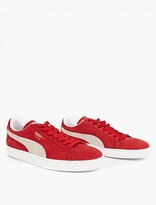 Puma Red Suede Classic Sneakers