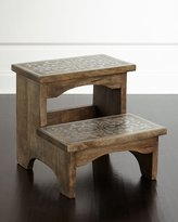 GG Collection G G Collection Wood & Metal Step Stool