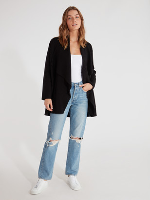 Cupcakes And Cashmere Marta Drape Front Coat