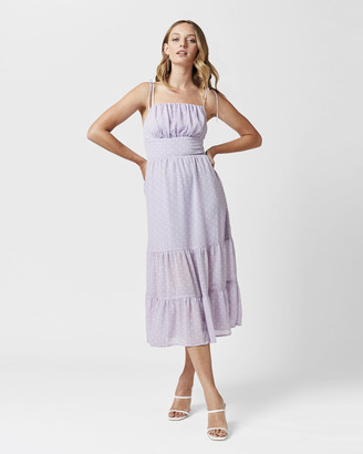 MVN - Women's Purple Midi Dresses - Lilah Midi Dress - Size One Size, 10 at The Iconic