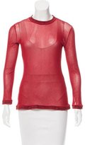 Jean Paul Gaultier Sheer Long Sleeve Top