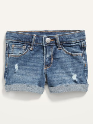 Old Navy Medium-Wash Distressed Jean Shorts for Toddler Girls
