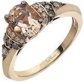 Le Vian 14ct Strawberry Gold Peach Morganite & diamond ring