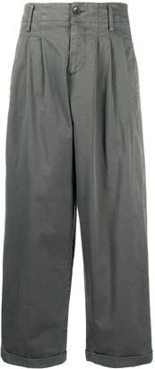 YMC Pleated Wide Leg Trousers