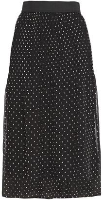 Maje Jockito Pleated Fil Coupe Chiffon Midi Skirt