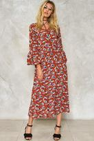 Nasty Gal Chelsea Morning Floral Maxi Dress