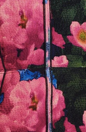 Tracy Reese Print Front Panel Velvet Dress