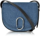3.1 Phillip Lim Alix Washed Indigo and Black Saddle Crossbody