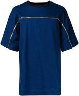 Juun.J zip detail t-shirt - men - Cotton/Polyester/Polyurethane - 44