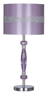 "Signature Design by Ashley Nyssa Purple 24"" Metal Table Lamp"