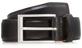 J By Jasper Conran Big And Tall Designer Black Smart Leather Belt