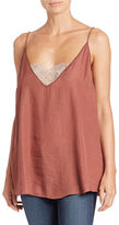 Free People Lace-Accented Tank Top