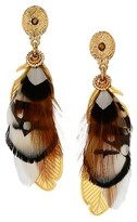 Thumbnail for your product : Gas Bijoux Sao 24K Goldplated & Feather Drop Earrings