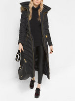 Michael Kors Faux-Fur Trimmed Down Puffer Coat
