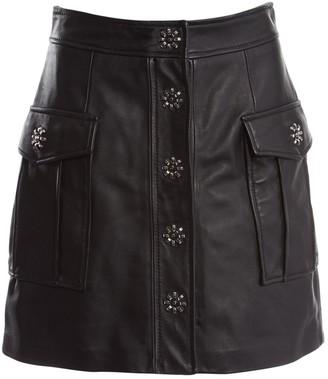 Michael Kors Black Leather Skirts