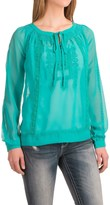 Roper Embroidered Georgette Peasant Blouse - Long Sleeve (For Women)