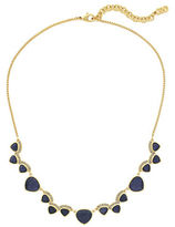 Cole Haan Crystal Garden At Midnight Frontal Necklace