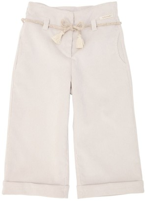 Yellowsub Velvet Wide Leg Pants W/ Belt