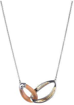 Alexis Bittar Two Tone Double Link Necklace
