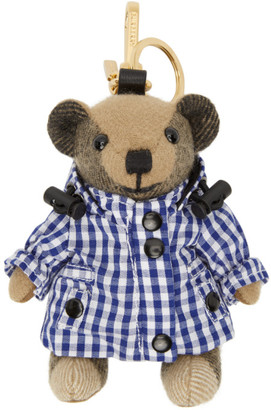 Burberry Beige Gingham Thomas Bear Keychain