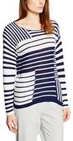 Esprit Women's Patch Stripe SW Long Sleeve Jumper,(Manufacturer Size:X-Large)