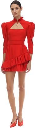 Ulyana Sergeenko Ruffled Viscose Mini Dress