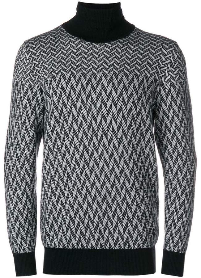 Givenchy geometric knitted jumper