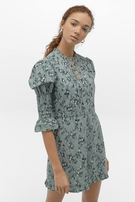 Urban Outfitters Marta Poplin Mini Dress