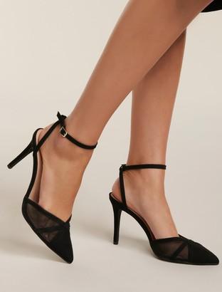 Forever New Tilly Mesh Stiletto Heels - Black - 37
