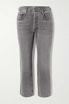 AGOLDE Ripley Mid-rise Straight-leg Jeans - Anthracite