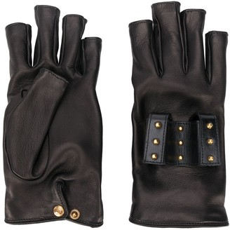 Gucci Studded Fingerless Gloves