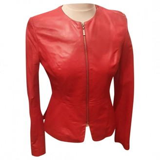 No Name Red Leather Jacket for Women