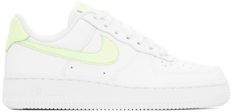 Nike White and Yellow Air Force 1 07 Sneakers