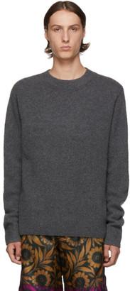 Dries Van Noten Grey Merino and Cashmere Sweater