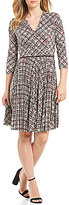 Maggy London Printed Jersey Fit And Flare Dress