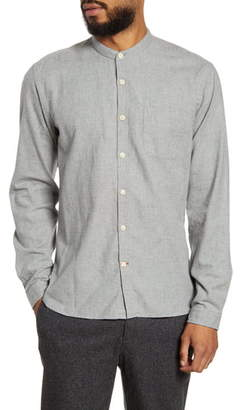 Oliver Spencer New York Special Slim Fit Button-Up Band Collar Shirt
