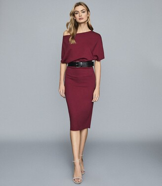Reiss Madison - Slim Fit Dress in Berry