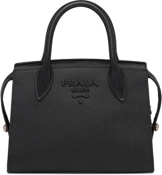 Prada Small Monochrome Saffiano Leather Bag