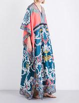 Mary Katrantzou Asso cotton and silk-blend kaftan