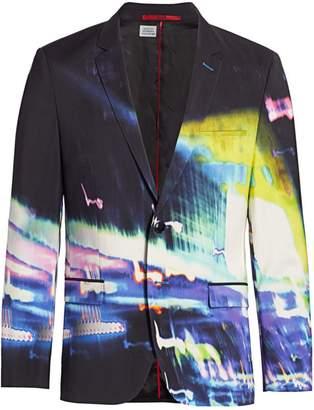HUGO Arti Iridescent Graphic Blazer Jacket