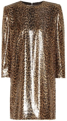 Saint Laurent Leopard-print minidress