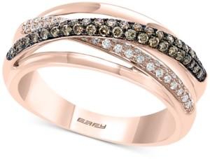 Effy Diamond Overlap Statement Ring (3/4 ct. t.w.) in 14k Rose Gold
