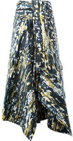 Marni abstract asymmetric skirt - women - Cotton - 42