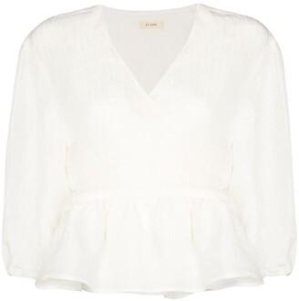 ST. AGNI Joji wrap blouse