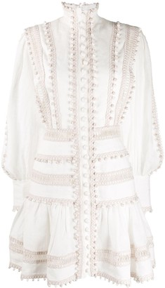 Zimmermann Bauble-Embellished Flared Dress