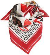 """Dolce & Gabbana """"I Love My Cat"""" Silk Scarf"""